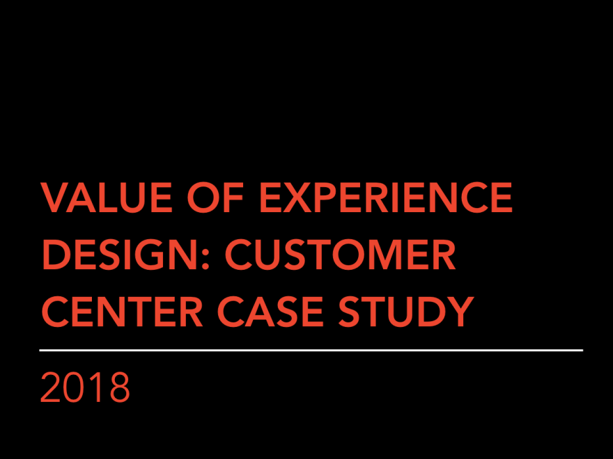 Value of Experience Design
